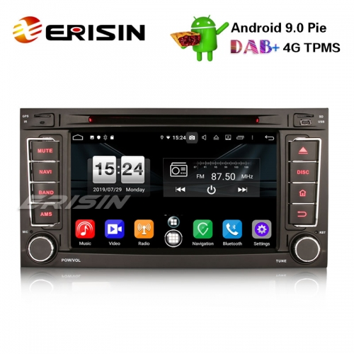 "Erisin ES7706T 7"" Android 9.0 Car Stereo DAB+ DVD GPS BT Wifi DVD OBD for VW T5 Multivan Touareg"