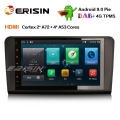 "Erisin ES6286L 9"" DAB+ Android 9.0 Car GPS Navigator HDMI AUX DTV 4G for Mercedes Benz ML/GL-Klasse W164 X164"