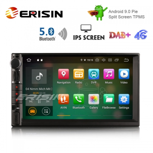 "Erisin ES8049U 7"" DAB+ Android 9.0 Autoradio GPS WiFi Bluetooth Navigation RDS 4G"