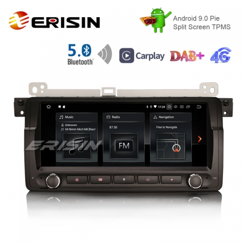 "Erisin ES1889B 8.8"" Android 9.0 Pie OS Car TPMS 4G GPS DAB+ BT5.0 Carplay for E46"