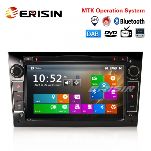 "Erisin ES7260PB 7"" All-in-One Car Multimedia Player with GPS 3G Radio BT VMCD DAB-IN DVR-IN DTV-IN"
