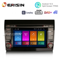 "Erisin ES3071F 7"" Android 10.0 DAB+ Car Stereo GPS Wifi SatNav OBD DSP TPMS CarPlay for FIAT BRAVO"