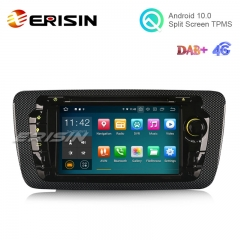 "Erisin ES5122S 7"" Android 10.0 Car DVD GPS System RDS 4G DAB+ Carplay+ for SEAT IBIZA"
