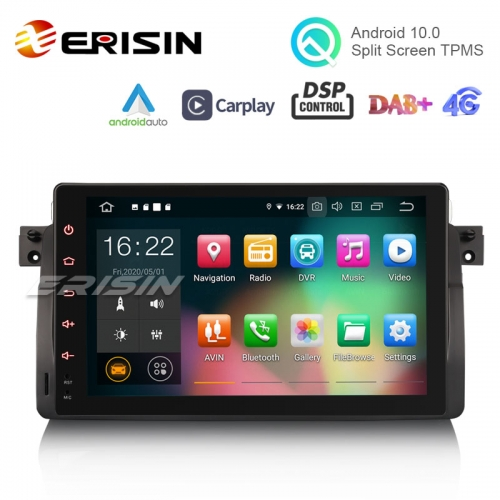 "Erisin ES8103B 9"" Octa-Core Android 10.0 Car Stereo DSP CarPlay & Auto GPS TPMS DAB+ 4G for BMW E46"