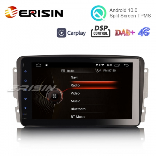 "Erisin ES4289C 8"" Android 10.0 OS Car GPS 4G TPMS DAB+ Apple CarPlay DSP for Benz W203 S203 CLK W209"