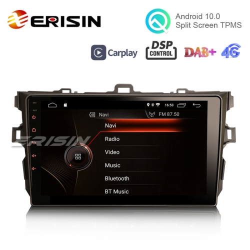 "Erisin ES4297A 9"" Android 10.0 Car Stereo for TOYOTA COROLLA ALTIS GPS DAB+ CarPlay DSP Radio TPMS"