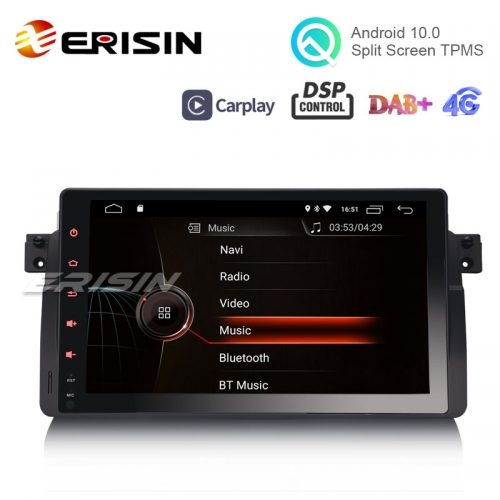 "Erisin ES4296B 9"" Android 10.0 OS Car Stereo GPS 4G TPMS DAB+ Apple CarPlay DSP for BMW E46 M3"