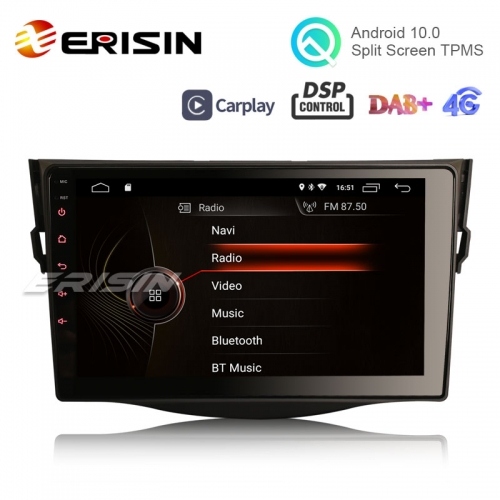 "Erisin ES4298R 9"" Android 10.0 Car Multimedia Player for TOYOTA RAV4 GPS WiFi 4G TPMS DVR DAB+ CarPlay DSP"