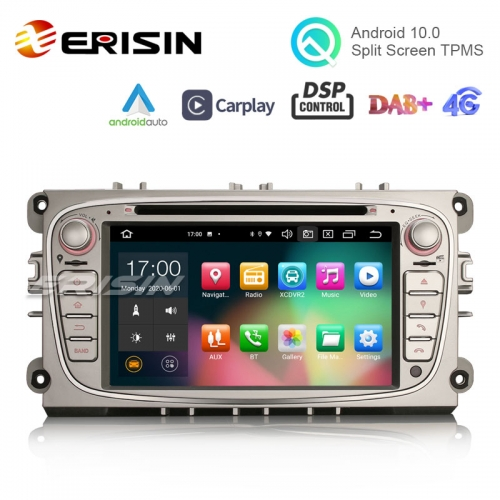 "Erisin ES8109FS 7"" PX5 64G Android 10.0 Car DVD CarPlay & Auto GPS TPMS DAB+ DSP for Ford Mondeo Focus Galaxy S-MAX C-MAX"