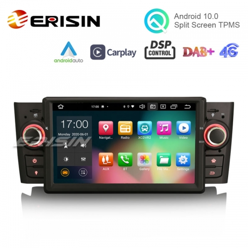 "Erisin ES8123L 7"" PX5 Android 10.0 Car Stereo for Fiat Punto Linea CarPlay & Auto GPS TPMS DAB+ DSP 64G"