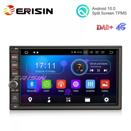 "Erisin ES5970U 7"" Android 10.0 Universal 2 Din Car Radio GPS DAB+ 4G TPMS Carplay+"
