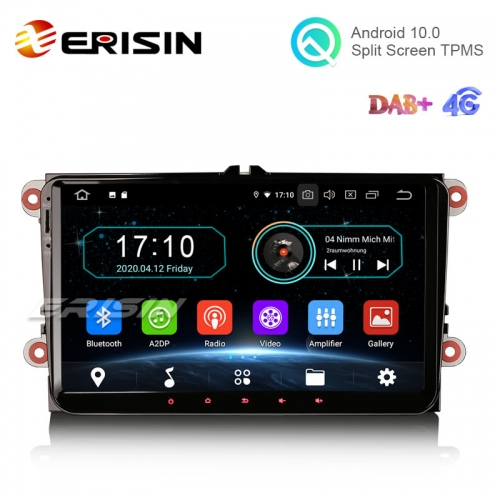 "Erisin ES5991V 9"" Android 10.0 Car Stereo for VW Golf 5 Passat Tiguan Polo Eos Skoda DAB+ Navi OPS"