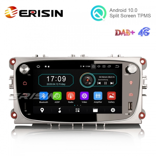 "Erisin ES5909FS 7"" Android 10.0 Car Stereo for Ford Focus Mondeo GPS DAB+ Radio 4G OBD Wifi TPMS System"