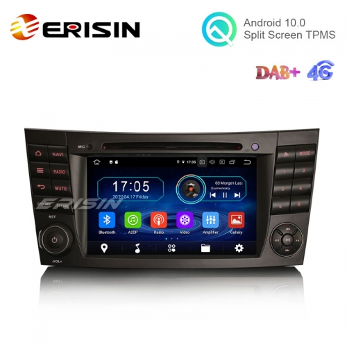 "Erisin ES5980E 7"" Android 10.0 Car Stereo for Benz E Class W211 CarPlay+ DAB+ DVD BT GPS Wifi Radio SatNav"
