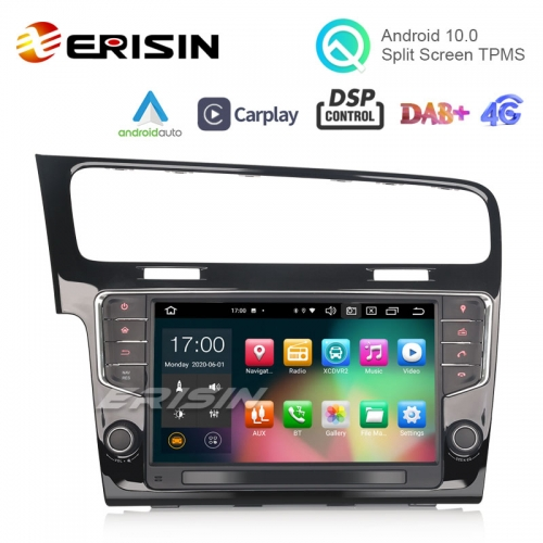 "Erisin ES8111G 9"" Android 10.0 Car Stereo for VW GOLF VII/7 DAB+ DSP CarPlay & Auto 64G GPS Sat Navi"