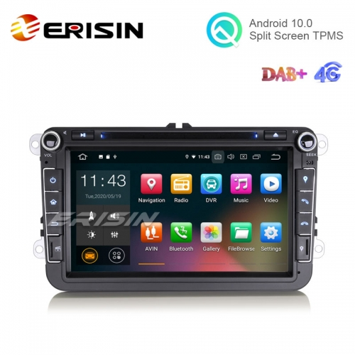 "Erisin ES5115VO 8"" Android 10.0 VW Car DVD Player GPS 4G DAB+ CarPlay+ TPMS OBD Wifi"