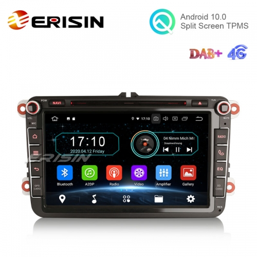 "Erisin ES6985V 8"" Android 10.0 Car DVD Player GPS 4G DTV BT WiFi DAB for VW Bora Golf Passat T5 Multivan Seat Skoda"