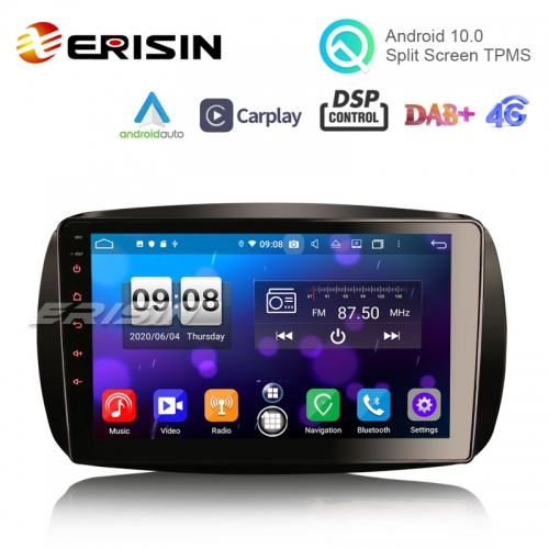 "Erisin ES8799S 9"" Android 10.0 Auto Multimedia System CarPlay & Auto GPS Radio DSP TPMS DAB for Mercedes Benz SMART"