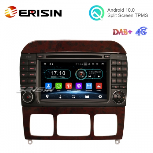 "Erisin ES5997SC 7"" 16G Android 10.0 Car DVD GPS Radio WiFi BT TPMS DVR for Mercedes-Benz S-Class W220 CL-Class W215"