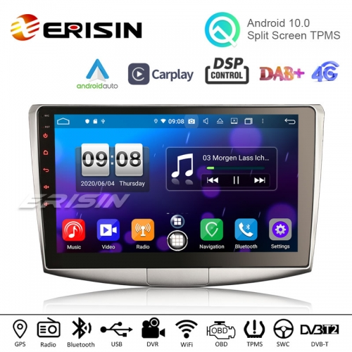 "Erisin ES8717P 10.1"" Android 10.0 Car Stero for VW Passat B6 B7 CC GPS System DSP DTV DAB TPMS CarPlay Auto Radio"