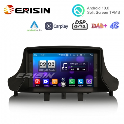 "Erisin ES8773M 7"" PX5 Android 10.0 Car Stereo DVD for Renault Fluence Megane Ⅲ CarPlay Auto Radio DAB+ 4G GPS System"
