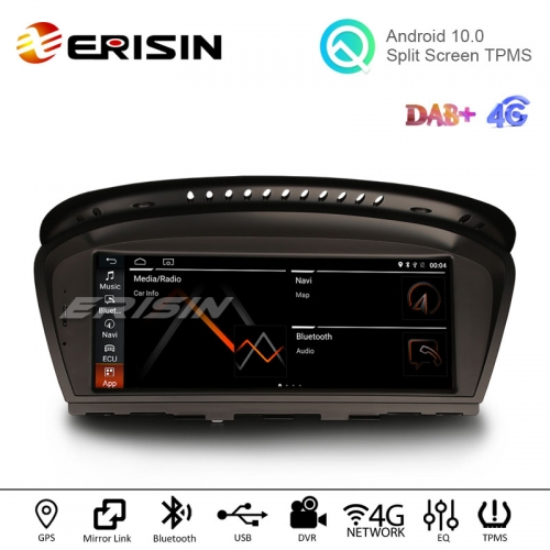 "Erisin ES2660B 8.8"" Android 10.0 Car Stereo OEM Radio GPS 4G SIM WiFi TPMS DVR for BMW 3er E60 E61 E63 E64 E90 E91 E92 E93 CIC CCC System"