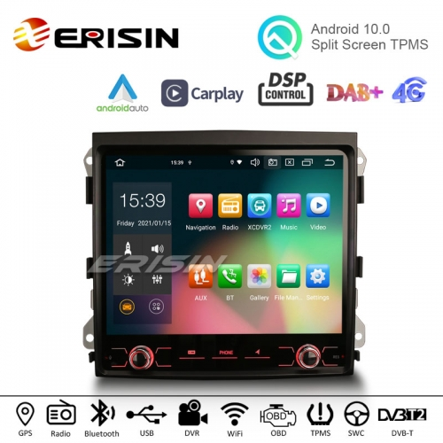 "Erisin ES8142C 8.4"" Octa-Core Android 10.0 Auto Radio CarPlay GPS TPMS DVR DTV DAB-IN Car Stereo for PORSCHE CAYENNE 2010-2017"